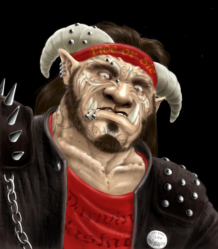 Brea'neck le Ganger Troll, par Dweller On The Treshold
